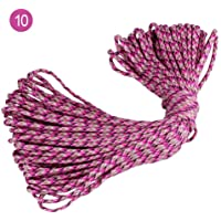 Rope New DIY 5mm 5 Yards Double Color Gradation Umbrella Rope Seven Core Polypropylene Rope Craft (Color : 10)
