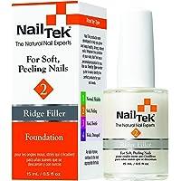 Nailtek Foundation No.2 Ridge-Filling Nail Strengthener Base Coat, 0.5 Fluid Ounce