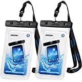 """Mpow Universal Waterproof Case, IPX8 Waterproof Phone Pouch Dry Bag Compatible for iPhone Xs Max/XS/XR/X/8/8P/7/7P Galaxy up to 6.0"""", Protective Pouch for Pools Beach Kayaking Travel or Bath (2-Pack)"""