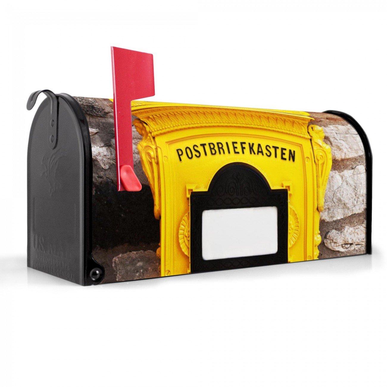 banjado US Mailbox Amerikanisch Briefkasten Stahl schwarz Historischer Postkaste