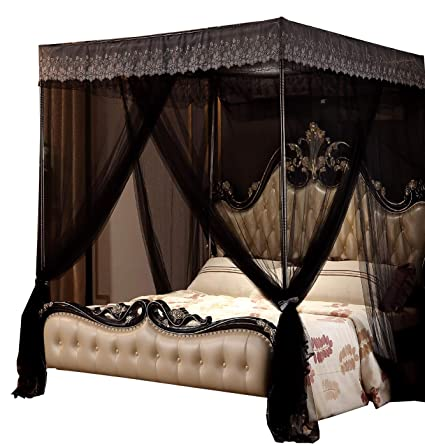 Amazoncom Nattey Luxury 4 Post Bed Curtain Canopy Netting Queen