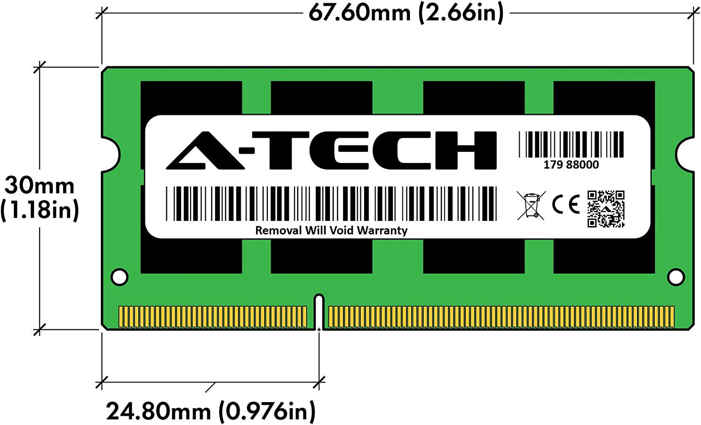 A-Tech 4GB RAM for ASUS A55 Series VM DDR3 1600MHz SODIMM PC3-12800 204-Pin Non-ECC Memory Upgrade Module