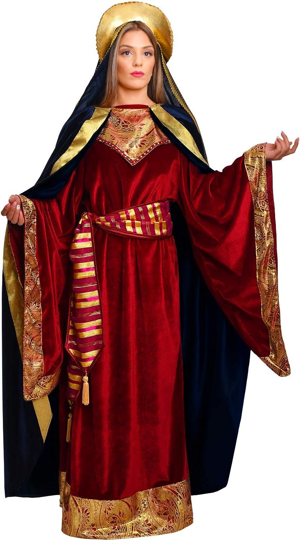 chiber - Disfraz Virgen Maria Deluxe para Mujer Adulta: Amazon.es ...