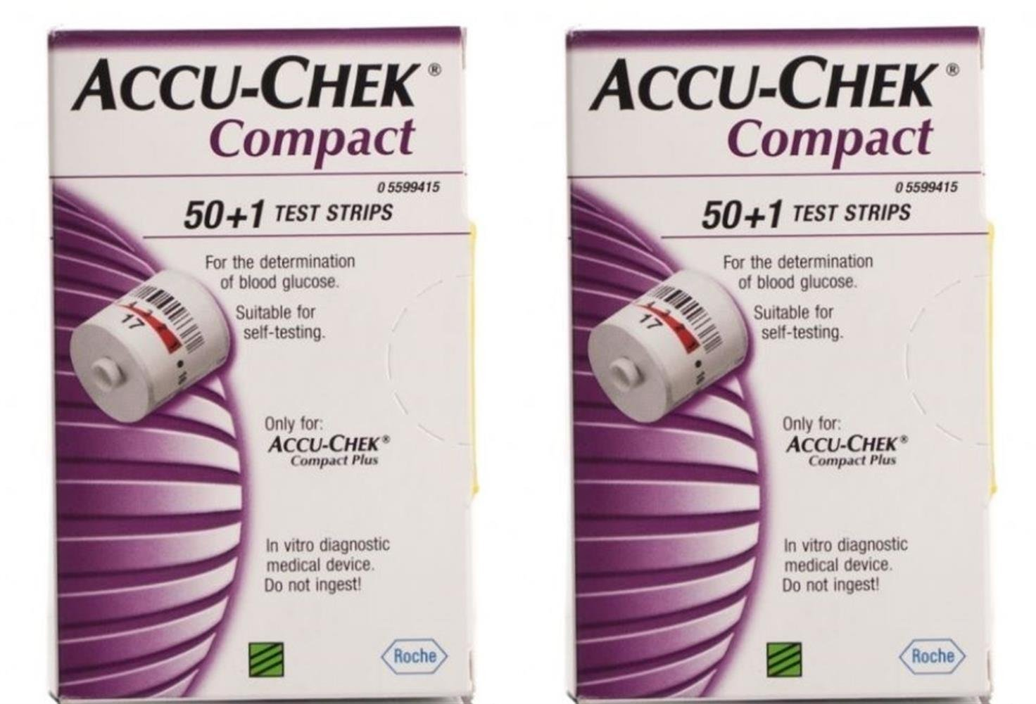 ACCU-CHEK Compact Strips 102ct ( 2 x 51) by Compact Plus