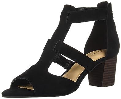 a0a2c50122 Amazon.com | CLARKS Women's Deloria FAE Heeled Sandal | Shoes