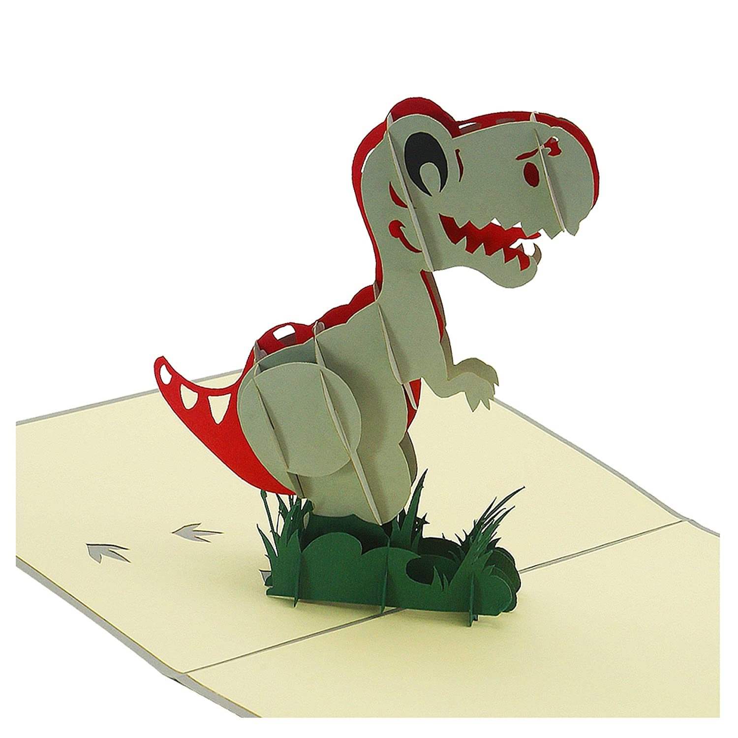 Amazon 3D Card T Rex Popup Handmade Cards Thank You Birthday Greeting