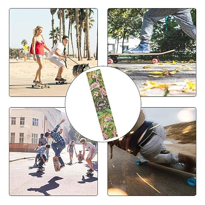 Amazon.com: Fovolat Skateboard Grip Tape Sheet, Waterproof, Scooter, Longboard Griptape, Sandpaper for Long Skateboard, Stairs, Pedal, Pistol,Wheelchair, ...
