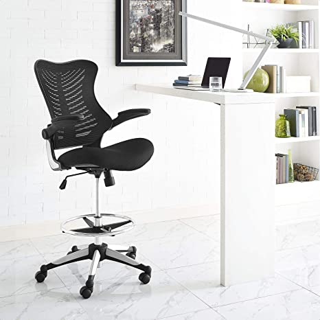 Amazon Com Pautah Mid Back Mesh Drafting Chair Kitchen Dining