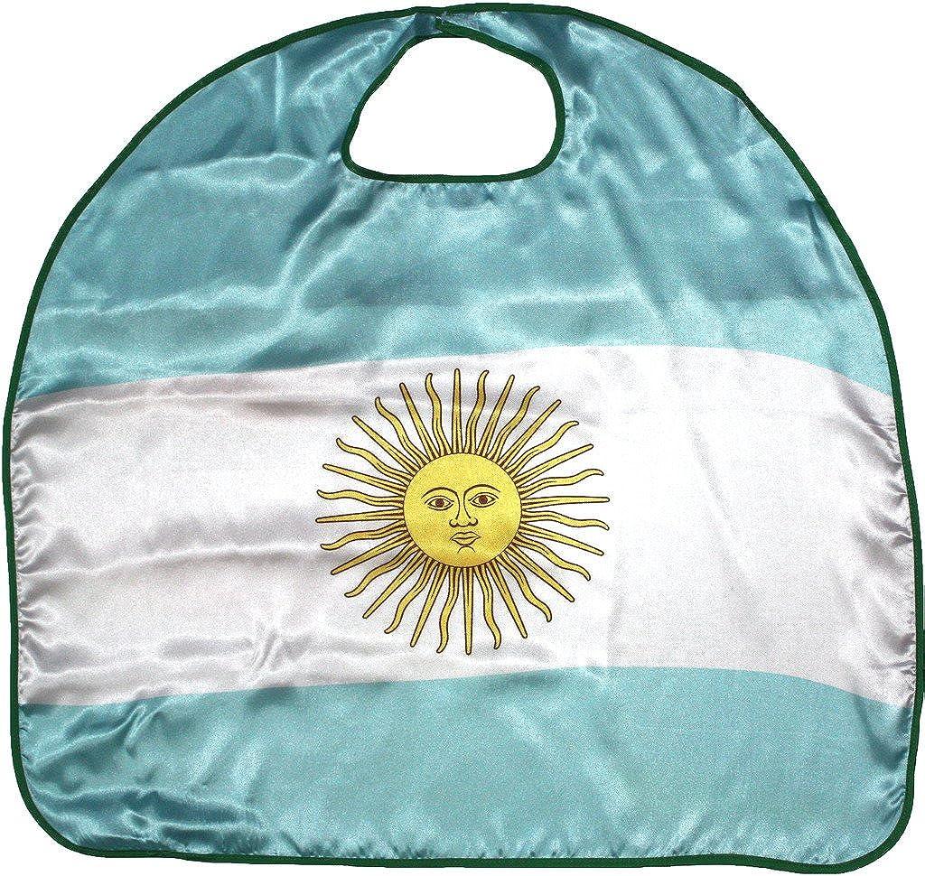 petitebella Nationalテーマサテンケープユニセックス服コスチュームアクセサリー3 – 8y One Size アルゼンチン(Argentina) B07CH4B3WV