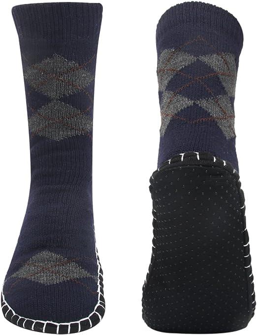 1 pair Women//Men House Indoor Winter Warm Knitted Non-Slip Socks Slipper Shoes