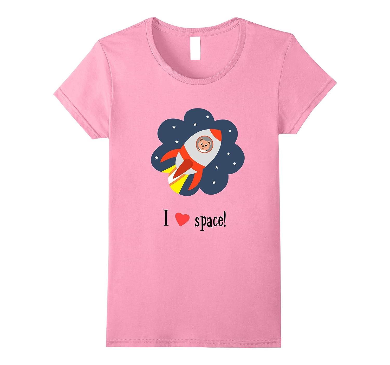 """I love space"" Cute Bear Astronaut T-shirt – Design towg009"