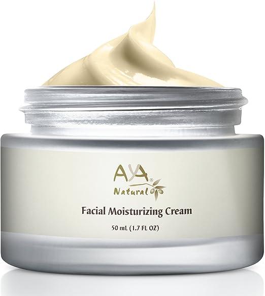 The Aya Natural Facial Moisturizing Cream travel product recommended by Adina Mahalli on Pretty Progressive.