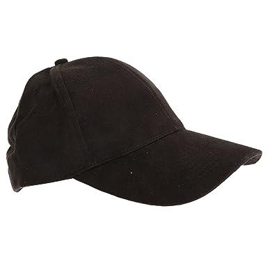 1783f2e94ee Foxbury Womens Ladies Faux Suede Cap (One Size) (Black)  Amazon.co ...