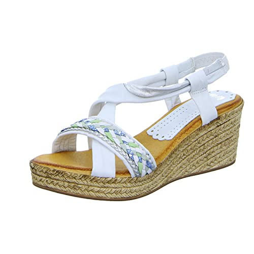 c5fb6acb28 Marila 303 BA-25 - Sandalias de Vestir de Piel para Mujer Blanco Weiß  (Weiß) 42 EU