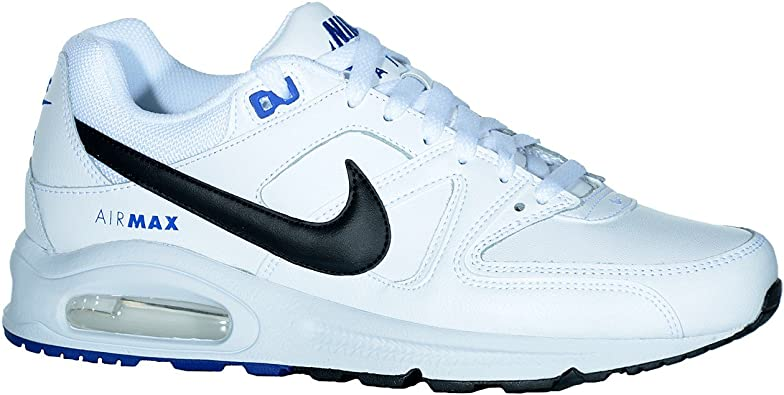Nike 409998 114 - Zapatillas de Correr de Piel sintética Hombre White/Black-Game Royal Talla:47: Amazon.es: Zapatos y complementos