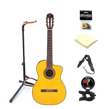 TAKAMINE tc132sc clásica 6 guitarra eléctrica acústica con cuerdas ...