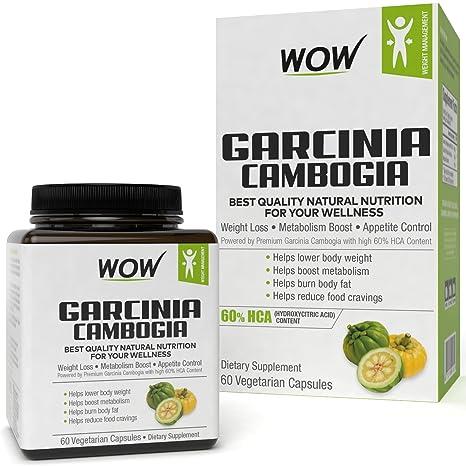 Wow Garcinia Cambogia Capsules 60 Count
