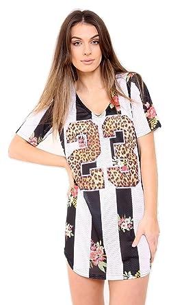 f6f2d90ec8e Ladies 23 Print Sublimation Airtex Longline T Shirt Dress US Size 6-12 (S