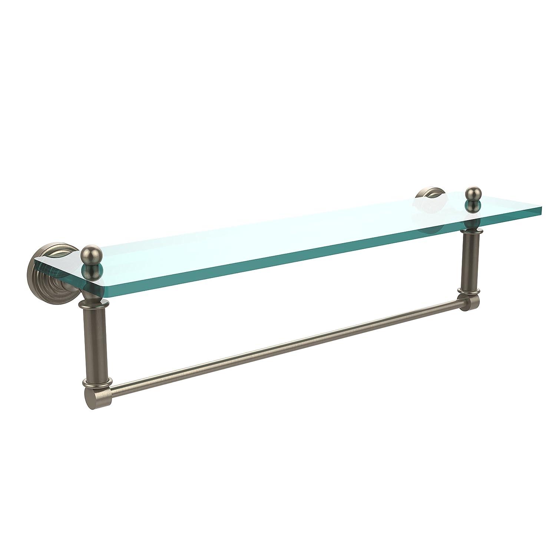 Allied Brass WP-1TB//16-ORB Glass Shelf with Towel Bar 16-Inch x 5-Inch