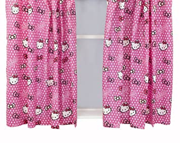 Character World Hello Kitty Candy Spots Curtains, 54-inches ...