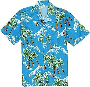 ACEBABY Camisas Hawaianas Hombre Camisas Hombre Manga Corta Verano Camisa Suelta Casual Estilo Hawaiano Estampada en Botón Informal Playa Camisas: Amazon.es: Ropa y accesorios