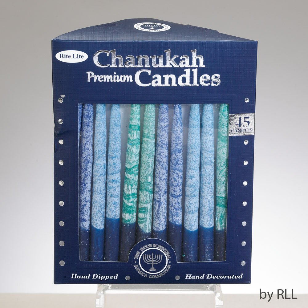 Rite Lite Chanukah Candles Premium Frosted Shades of Blue