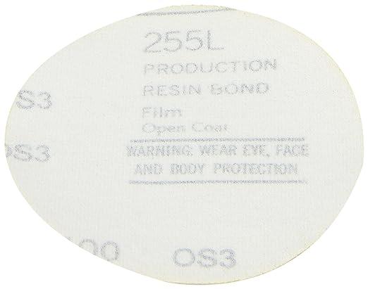 Pack of 50 3 Diameter Aluminum Oxide P120 Grit 3M Hookit Gold Film Disc 255L