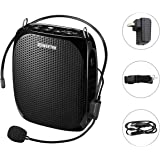 Zoweetek Portable Rechargeable Mini Voice Amplifier With Wired Microphone Headset and Waistband, Supports MP3 Format Audio for Teachers, Singing, Coaches, Training, Presentation, Tour Guide
