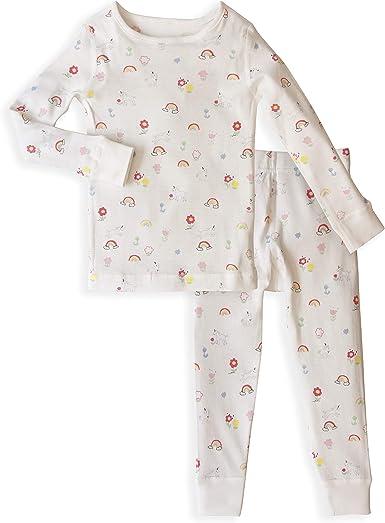 Skylar Luna Pijama para niñas – 100% algodón orgánico Gots ...