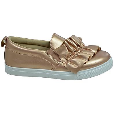 e6967a66e9e1a Cucu Fashion New Womens Bow Trainers Ladies Slip On Sneakers Flats Comfy Shoes  Size UK 3-8: Amazon.co.uk: Shoes & Bags