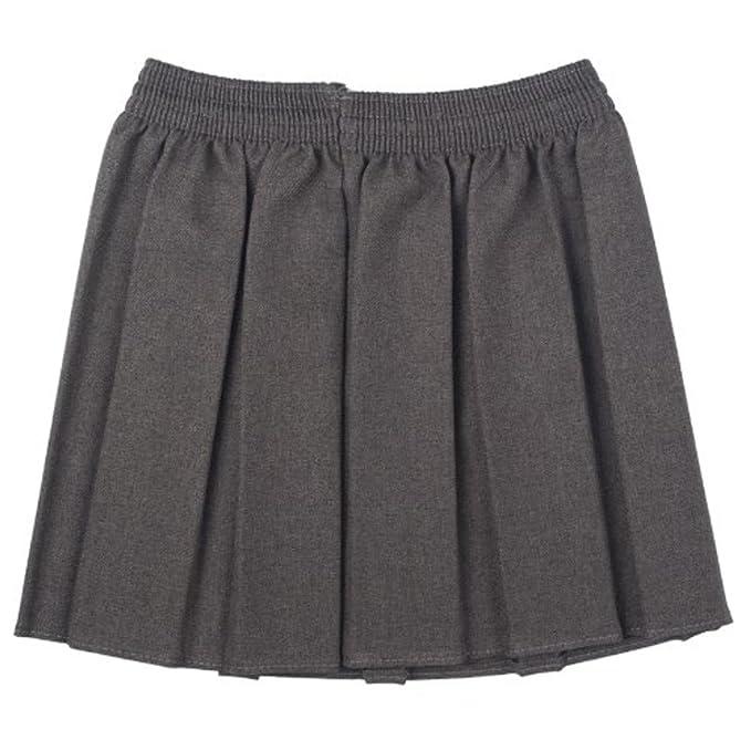 Ou Niñas Uniforme Escolar Caja Plisado elástico Falda Schoolwear tamaño 2 - 17yrs: Amazon.es: Ropa y accesorios