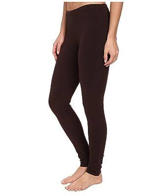 171209396e57ca HUE Women's Fashion Cotton Skimmer Leggings (Brown Solid Espresso, ...