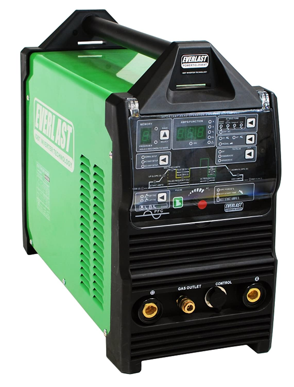 2015 Everlast PowerTig 255EXT DIGITAL AC DC TIG STICK Pulse welder 220 Volt Inverter-Based AC DC