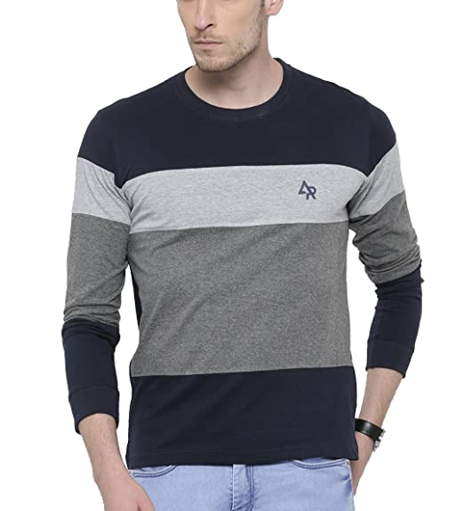 ADRO Full Sleeve Cotton T-Shirt for Men Fr34st Navy Blue S  Amazon.in   Clothing   Accessories 99c2415e7f