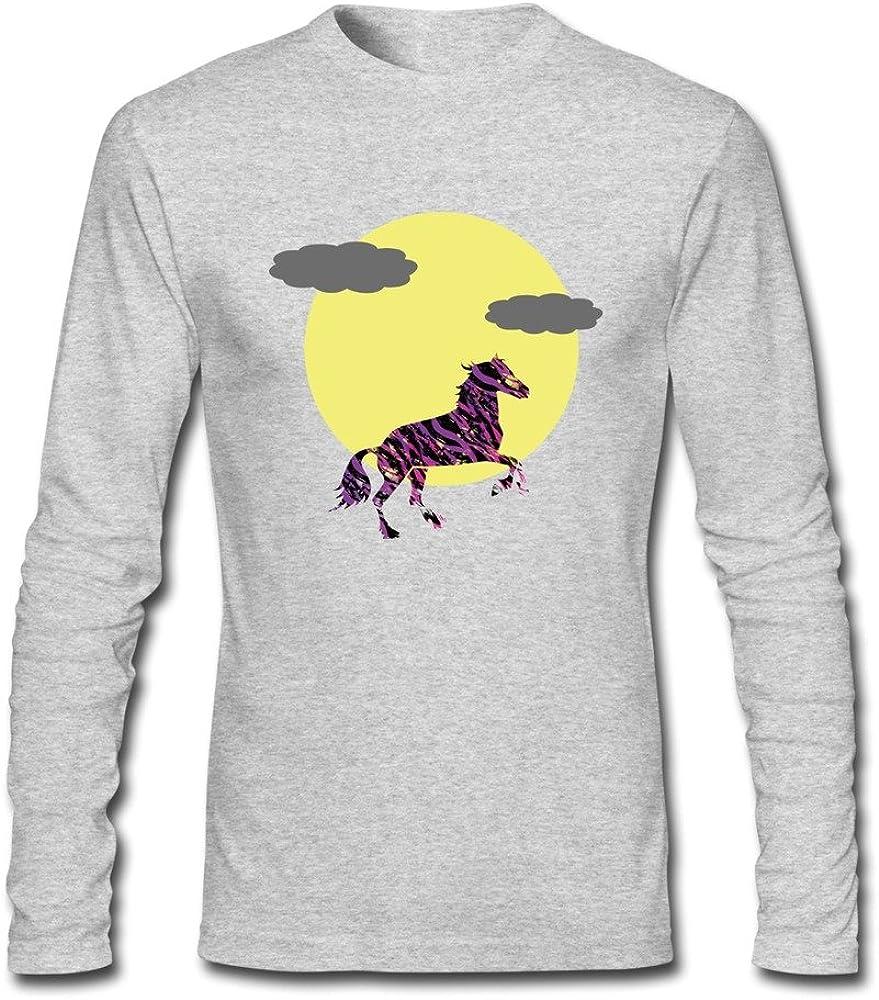 Hombre Cool Graphic caballo en el leopardo pijama camiseta de manga larga Amarillo HeatherGray XL: Amazon.es: Ropa y accesorios