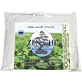 "Buckwheat Pillow- Organic King Size (20""X36"") w Natural Cooling Technology- All Cotton Cover w Organic Buckwheat Hulls"