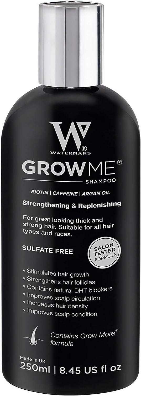 Champú Anticaida, Watermans Mejor cafeína, argan oil, biotin champú para la pérdida del cabello, Tratamiento para el Cabello, Estimula el Crecimiento Cabello para Hombres y Mujeres