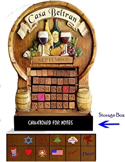 product image for Wine Theme Custom Perpetual Calendar