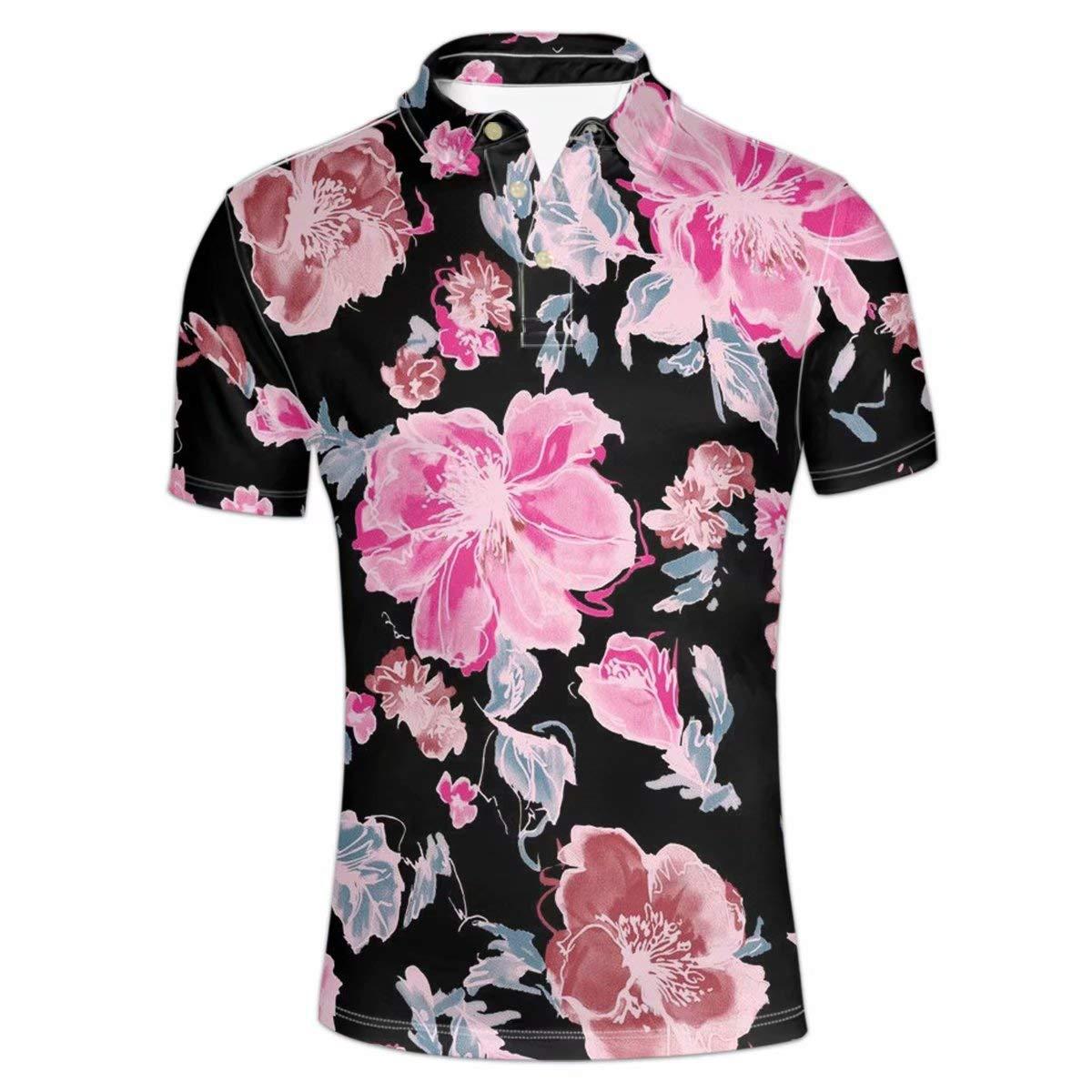 Pensura Men/'s Hawaiian Polo Shirt Funny Shirt 3D Print Short Sleeve T Shirt