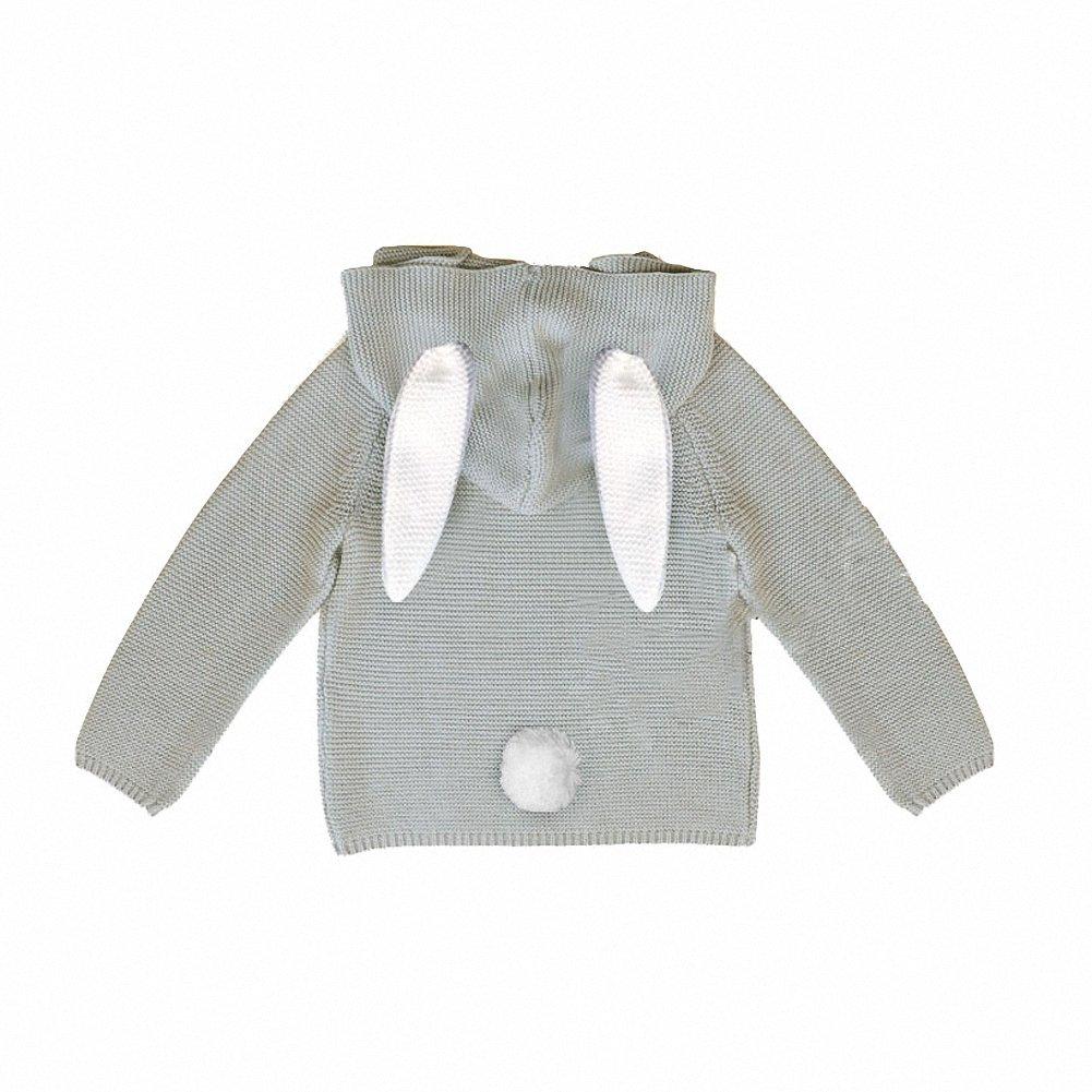 Amazon.com: belababy Baby Hoodies Cute Rabbit Ears Toddler Knitting ...