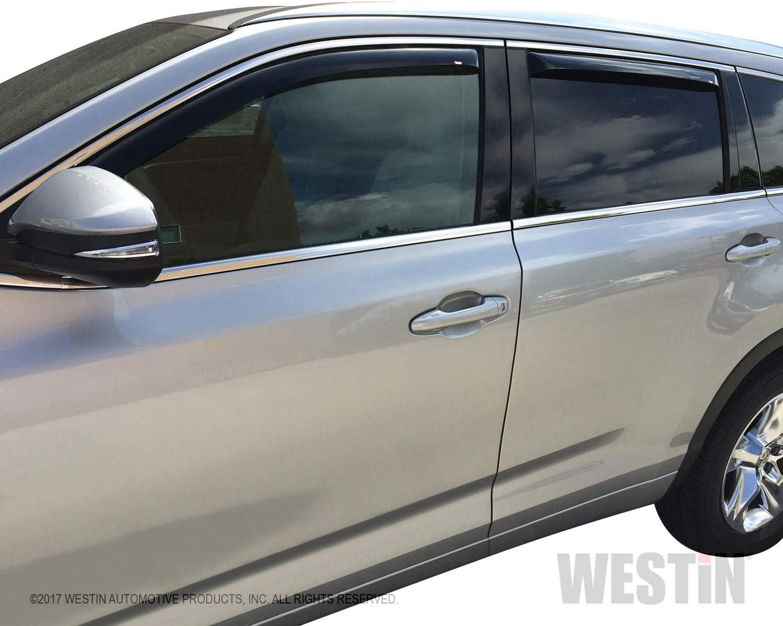 For Toyota Highlander 14-19 Window Deflectors Tape-On Standard Ventvisor Smoke