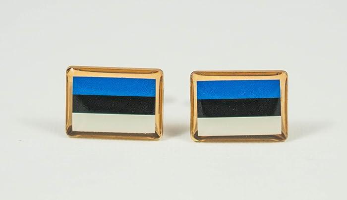 9e0ee13d95f3 Amazon.com: Estonia Flag Cufflinks: Handmade