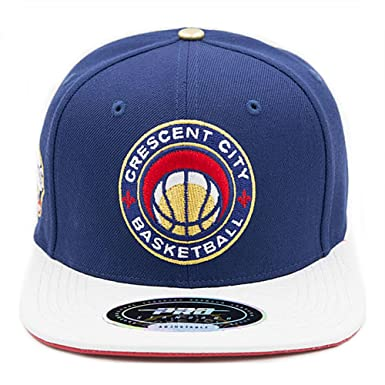 ce70f6e1fbf70b Image Unavailable. Image not available for. Color: Pro Standard Men's NBA  Pelican Ball Logo Buckle Hat Navy Blue NO Pins