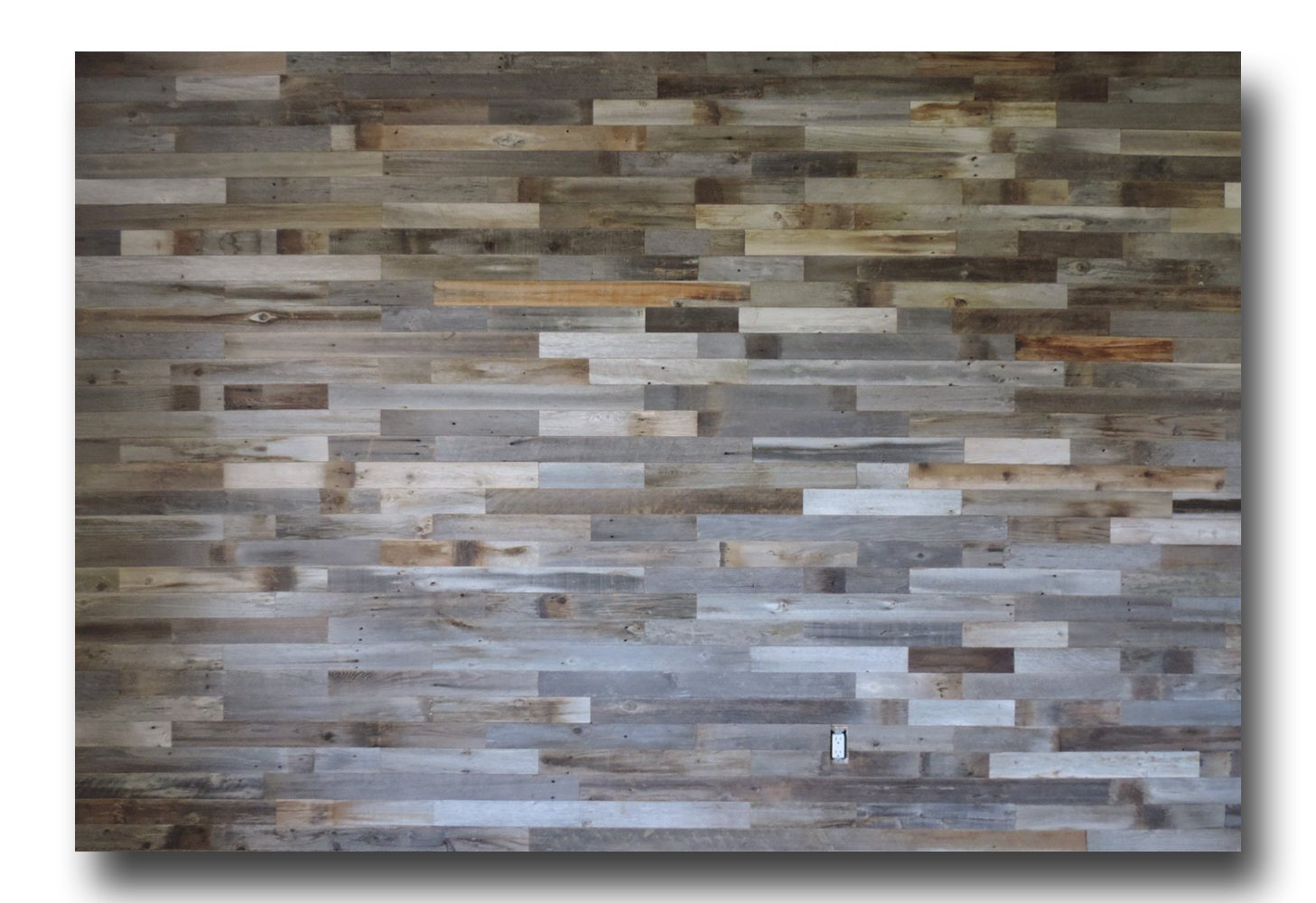 Barnwood reclaimed wood wall paneling craft wood authentic weathered wood wall covering flooring rustic wood amazon co uk diy tools