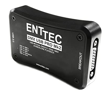 Enttec DMX USB Pro Mk2 70314 Pro2 MIDI & Standalone RDM Lighting Controller  Interface