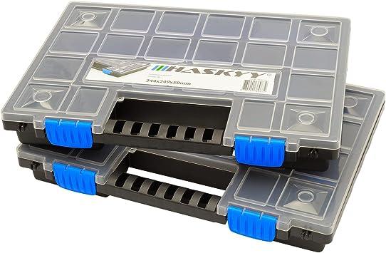 2x XL Caja organizadora con compartimentos de 345x249x50mm I ...