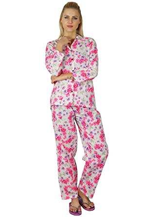 9987a4fd59 Bimba Women Rayon Night Wear Pajama Set Printed Full Sleeve Shirt with  Pyjamas  Amazon.co.uk  Clothing