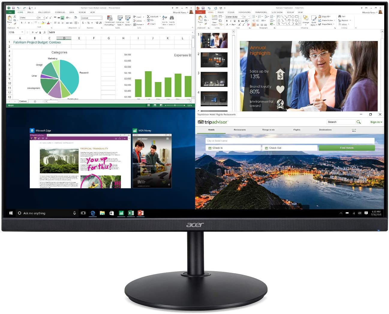 Acer CB272 vertical monitor for coding and gaming with freesync