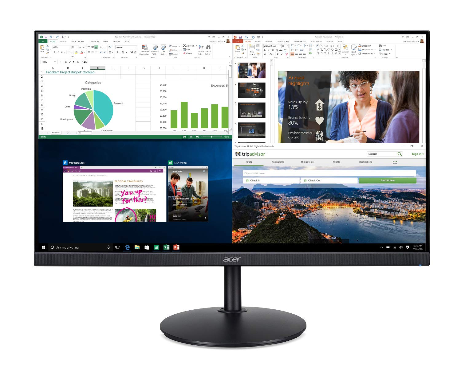Acer CB272 bmiprx 27 inches Full HD (1920 x 1080) IPS Zero Frame Monitor with AMD Radeon FreeSync Technology - 1ms VRB & 75Hz Refresh (Display, HDMI & VGA port),Black