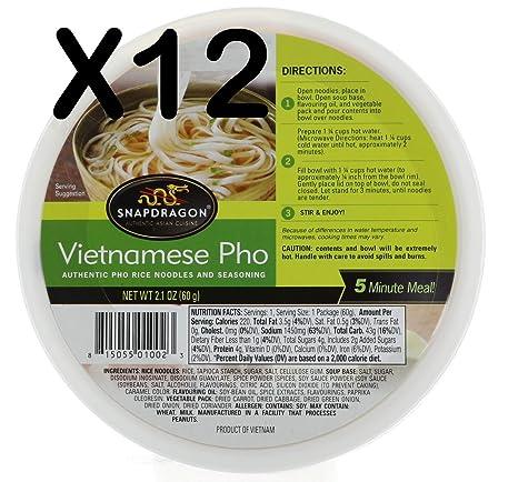 Snapdragon vietnamita Pho cuencos, 12.6 oz: Amazon.com ...